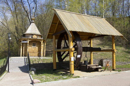 water well: Chapel and water well in masters in Gorodets on the Volga River