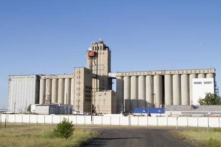 grain storage: Silo for grain storage in the Russian village