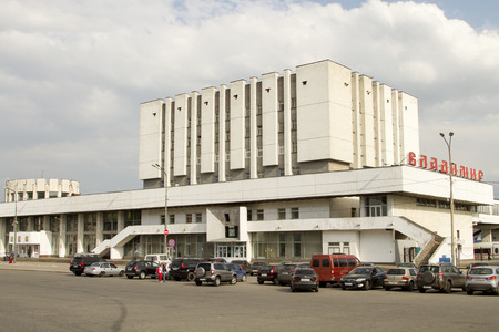 Building of the central train station in Vladimir Editorial