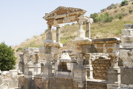 fertility goddess: The ruins of the ancient city of Ephesus, located on the territory of modern Turkey Stock Photo