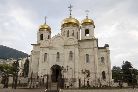 Saviour Cathedral in cloudy weather in Pyatigorsk