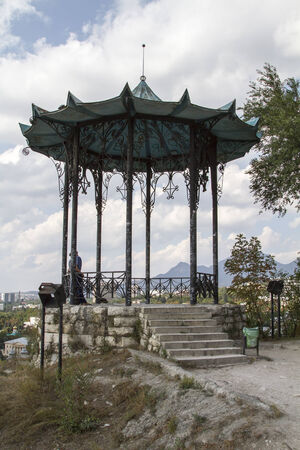 kavkaz: Gazebo in Chinese style on top of a mountain on September 13, 2014 in Pyatigorsk.