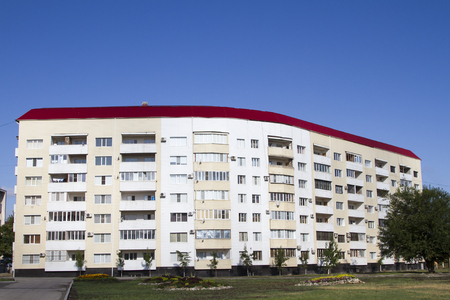 reconstructed: New homes in the reconstructed after the war in Grozny