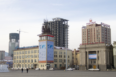 mercantile: Building mercantile exchange and post office in Ulaanbaatar.