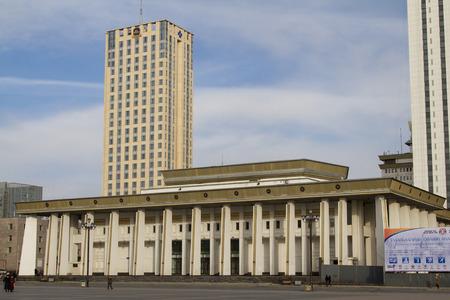 Ul�n Bator, Mongolia - 1 de febrero: Palacio de la Cultura en Mongolia el 1 de febrero de 2015, de Ul�n Bator.