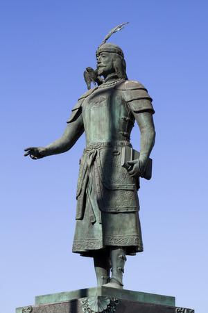 Monument Marco Polo in Ulan Bator, Mongolia