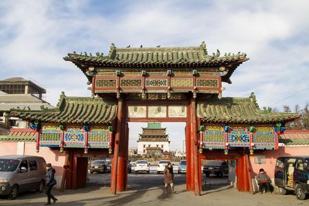 main gate: Main gate of Gandan Monastery