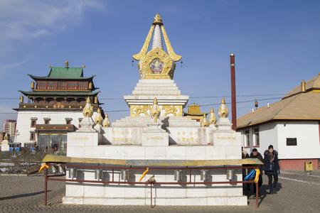 buddhist stupa: Buddhist stupa in the monastery Gandan