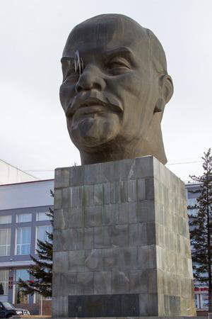 biggest: ULAN-UDE, RUSSIA - FEBRUARY 4: Biggest head - Monument to Vladimir Lenin on Fevruary 4, 2015 in Ulan-Ude.