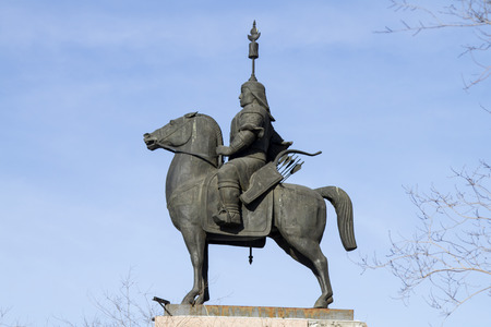 ulan ude: ULAN-UDE, RUSSIA - FEBRUARY 4: First equestrian monument in Ulan-Ude - monument Geser on Fevruary 4, 2015 in Ulan-Ude.