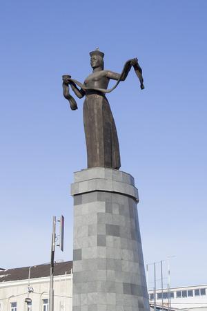ulan ude: ULAN-UDE, RUSSIA - FEBRUARY 4: Monument Hospitable Buryatia - Statue of Mother Buryatia on Fevruary 4, 2015 in Ulan-Ude. Editorial