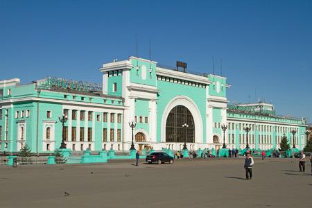 novosibirsk: NOVOSIBIRSK, RUSSIA - AUGUST 9: Railway station Novosibirsk-main on August 9, 2015 in Novosibirsk.