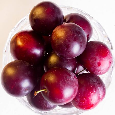 juicy: Ripe juicy cherry plum