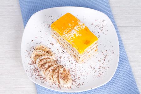 tea party: Banana cake and banana slice