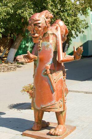 avantgarde: YAROVOYE, RUSSIA - SEPTEMBER 1: Original sculpture in the style of avant-garde on September 1, 2015 in Yarovoye.
