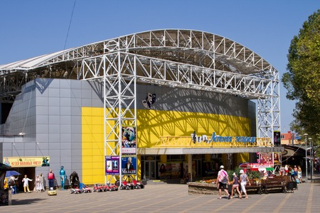 krasnodar region: ANAPA, RUSSIA - AUGUST 20: Facade Summer Stage on August 20, 2015 in Anapa.