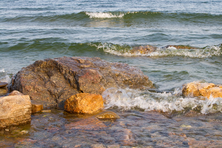 tidal wave: Stones on the shore of Lake Baikal and the tidal wave