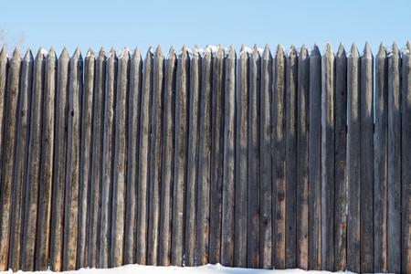 stockade: Old wooden stockade fort in the Irkutsk region