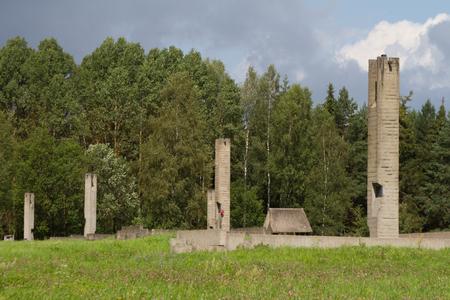 genocide: KHATYN, BELARUS - JULY 30: Memorial complex Khatyn on Belarusian villages destroyed by the Nazis during the Second World War on July 30, 2016 in Khatyn.