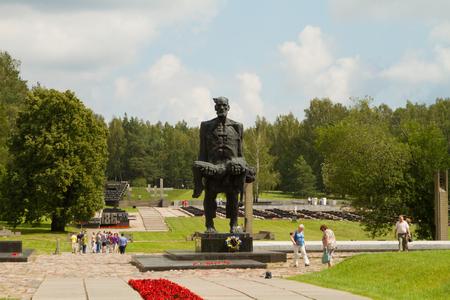 nazis: KHATYN, BELARUS - JULY 30: Memorial complex Khatyn on Belarusian villages destroyed by the Nazis during the Second World War on July 30, 2016 in Khatyn.