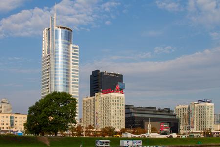 minsk: MINSK, BELARUS - JULY 31: View of a modern business district in Minsk on July 31, 2016 in Minsk. Editorial