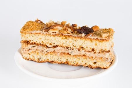 Cake with raisins and peanuts Stock Photo