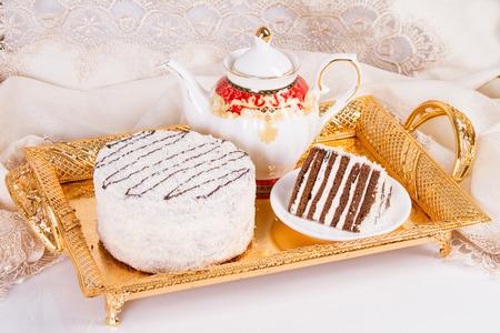 Chocolate cake with coconut flour