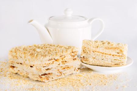Freshly baked sweet honey cake