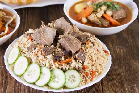 Uzbek national cuisine - pilaf