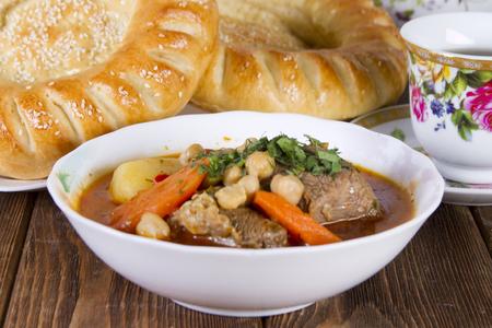National Uzbek dish - shurpa