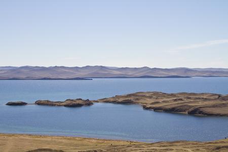 View of the Kurminskaya scythe and Lake Baikal