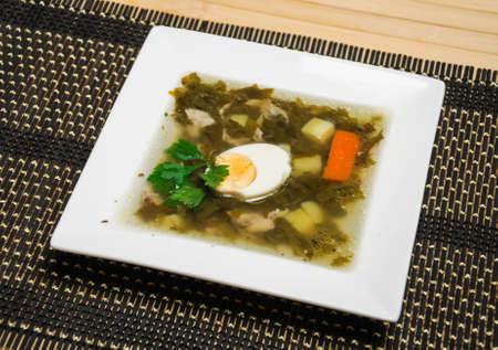 halved  half: sorrel soup