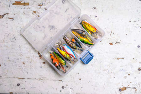 zeal: A lot of different lures in plastic box