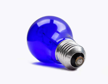minin: Dark blue therapeutic lamp. Is used in the reflector of Minin for warming up nose, and other parts of the body Stock Photo