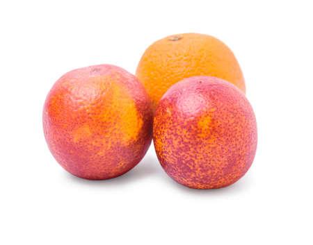 embody: Red orange isolated on white background