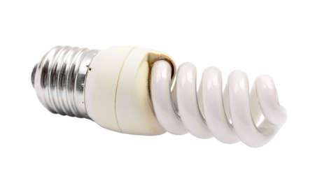 Blown utilized fluorescent energy saving lamp spiral shape