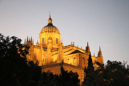 Sunset over Salamancas Cathedral