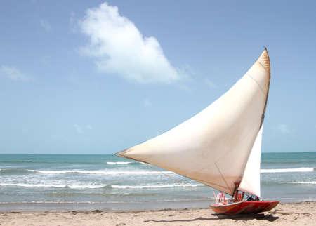 Canoa Quebrada beach, Brazil Standard-Bild - 124555049