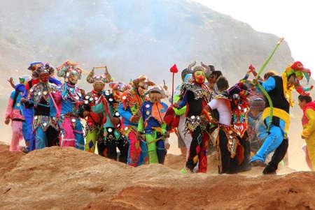 Carnival beginning in Jujuy Argentina
