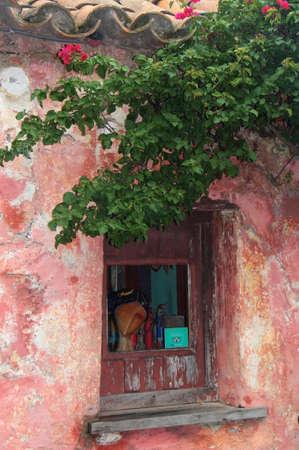 A window to the historical city, Colonia del Sacramento, Uruguay.