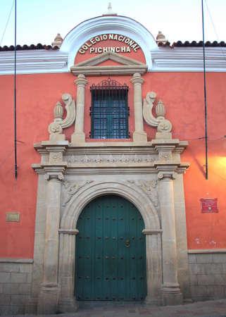 Pichincha college in Potosi city, Bolivia. Stock Photo