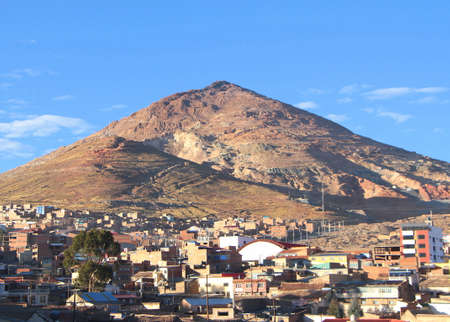 Sunrise over Potosi hill, Bolivia. Stock Photo