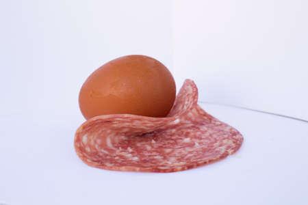egg whit salami photo