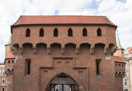 Barbican in kracow Stock Photo