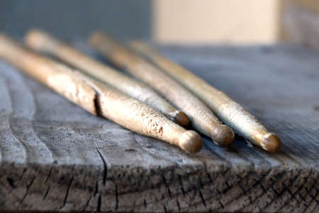 drumsticks background Stock Photo
