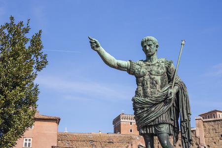Statue of Julius Cesar in Rome, Italy