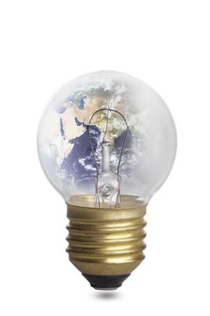 globe bulb  Stock Photo - 10797299