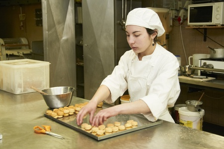 retailer: confectionery working with pastry and ice cream desserts
