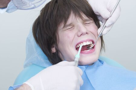 boy during a dental visit. doctor's clinic photo