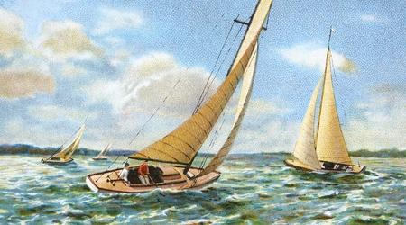 sailing old illustration
